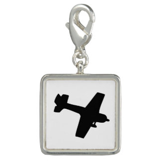 Plane Silhouette Photo Charms