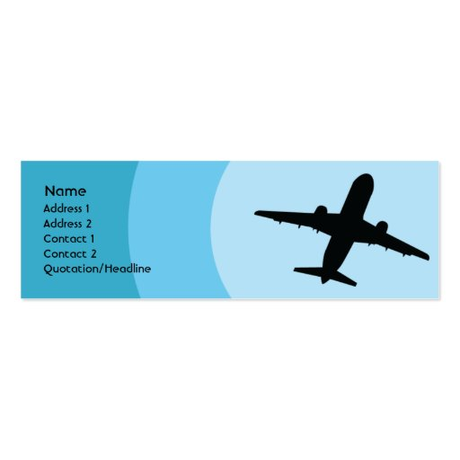 Plane - Skinny Business Card Template