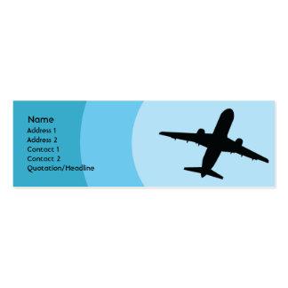 Plane - Skinny Mini Business Card