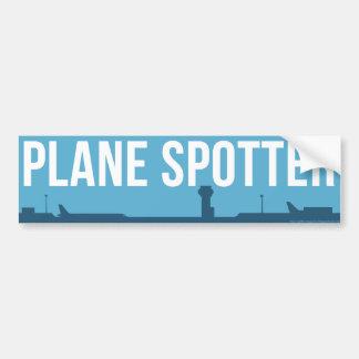 Plane Spotting Spotter Blue Bumper Sticker