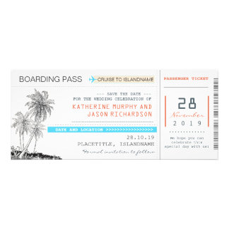 plane tickets boarding pass save the date design personalized invitation