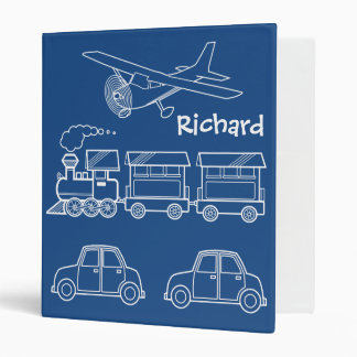 Plane, Train and Car Design ~ editable background Vinyl Binders