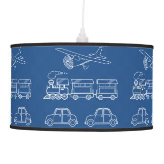Plane, Train and Car Design ~ editable background Pendant Lamp