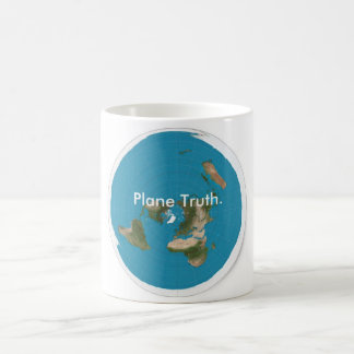 Plane Truth. Azimuthal Equidistant, Flat Earth Mug