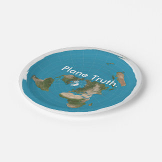 Plane Truth Azimuthal Equidistant Paper Plate Maps 7 Inch Paper Plate