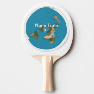 Plane Truth Azimuthal Equidistant Ping Pong Paddle
