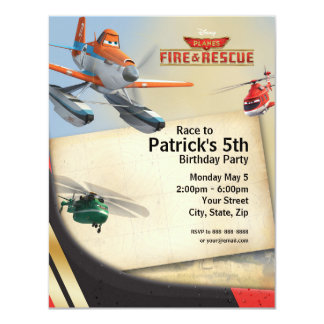Planes Fire & Rescue Birthday Invitation