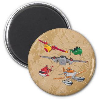 Planes Group Fridge Magnet