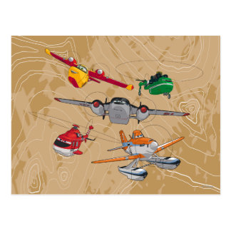Planes Group Postcard