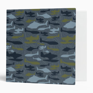 Planes Silhouettes Topographical Pattern Vinyl Binders