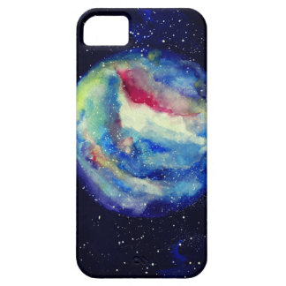 Planet Case, Watercolor Cosmos Art iPhone 5 Covers