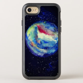 Planet Case, Watercolor Cosmos Art OtterBox Symmetry iPhone 8/7 Case