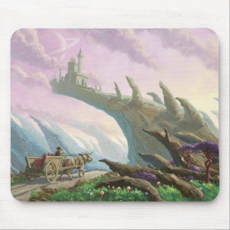 Planet Castle On Arch Mouse Pad