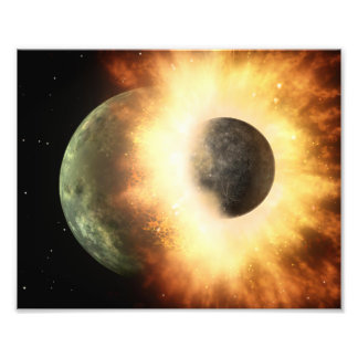 Planet Collision Space Art Photo Print