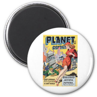 Planet Comics 2 Inch Round Magnet