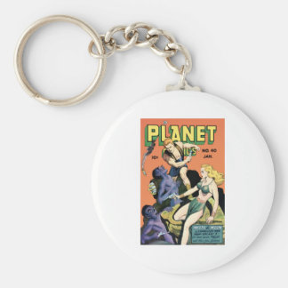 Planet Comics Basic Round Button Keychain