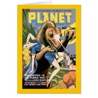 Planet Comics Greeting Card