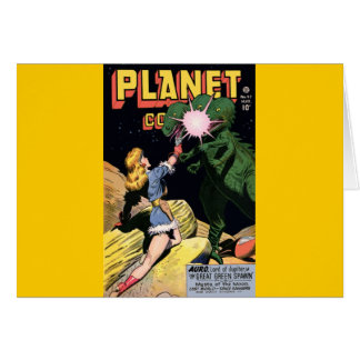 Planet Comics No 47 Greeting Card