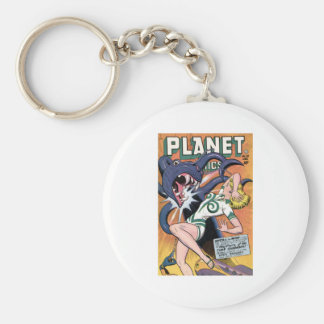 Planet Comics No 52 Basic Round Button Keychain
