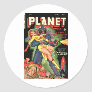 Planet Comics No 70 Round Sticker