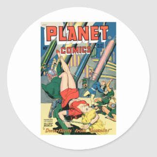 Planet Comics Round Sticker