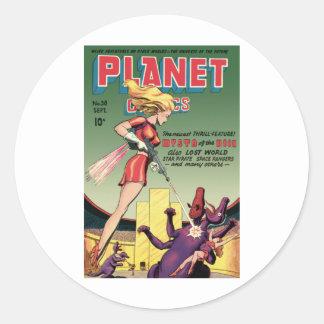Planet Comics Round Sticker