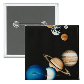 Planet Composition 2 Inch Square Button