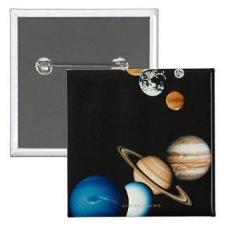 Planet Composition 2 Inch Square Button