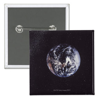 Planet earth 2 inch square button