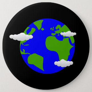 Planet Earth 6 Inch Round Button