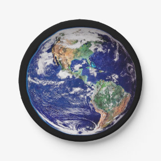 Planet Earth 7 Inch Paper Plate