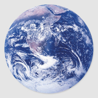 Planet Earth Amazing Space Picture Classic Round Sticker