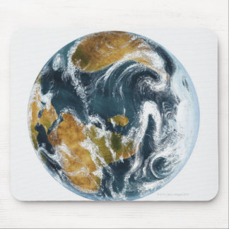 Planet Earth and clouds seen from space Mouse Pad