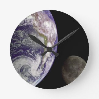 Planet Earth and Moon Clock