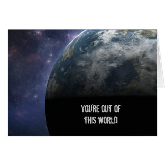 Planet Earth and Outer Space Fantasy Art Card