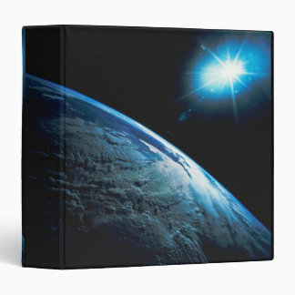 Planet Earth and Star from Space 3 Ring Binder