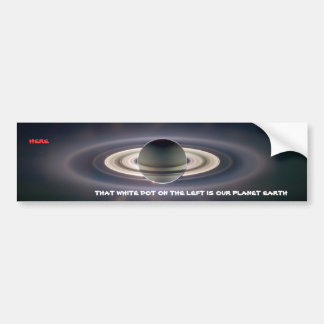 Planet Earth as Seen from Saturn Bumper Sticker