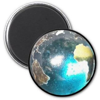 Planet earth ball magnet