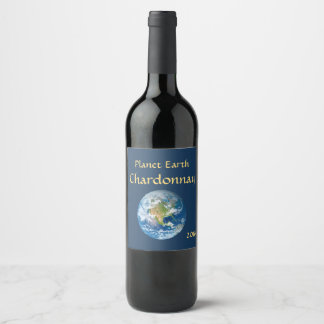 Planet Earth Blue Wine Label