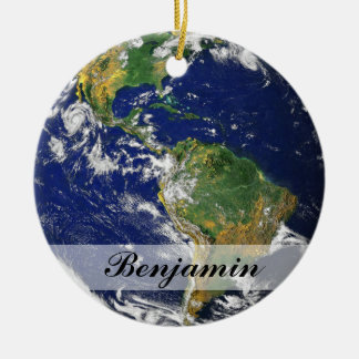 Planet Earth Ceramic Ornament
