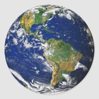 Planet Earth Classic Round Sticker