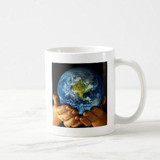 Planet  earth classic white coffee mug