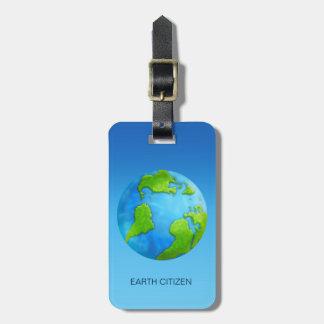 Planet Earth Custom Luggage Tag