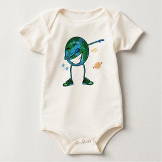 Planet Earth Dabbing Baby Bodysuit