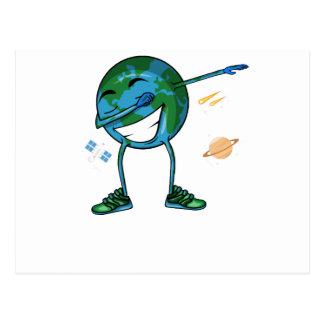 Planet Earth Dabbing Postcard