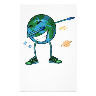 Planet Earth Dabbing Stationery