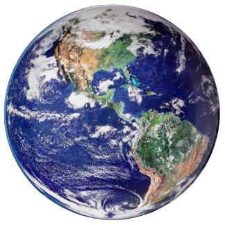 Planet Earth Decorative Porcelain Plate