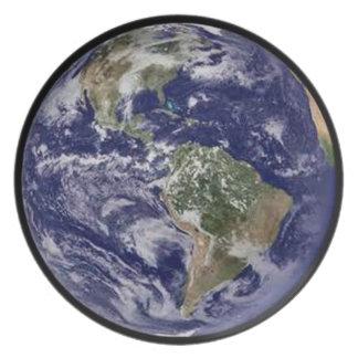 Planet Earth Dinner Plate. Plate