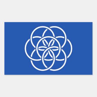 Planet earth flag sticker