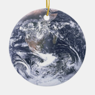 Planet Earth From Space Earth Day Ceramic Ornament